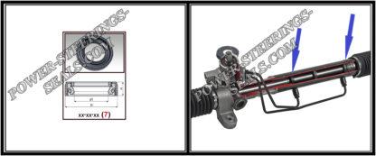 F-00139 Dichtring (Wellendichtring) Lenkgetriebe 28*40,2*8 (7V2) Audi A8