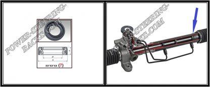 F-00248 Power steering oil seal 25,5*37,7*8 (7V2)