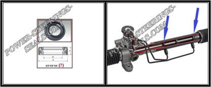 F-00282 Dichtring (Wellendichtring) Lenkgetriebe NISSAN LAUREL V 25*45,2*8
