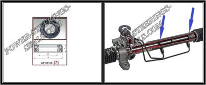 F-00745 Dichtring (Wellendichtring) Lenkgetriebe DODGE RAM III 1500 32*52,2*10 (7V1)