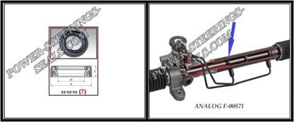 Dichtring Lenkgetriebe HYUNDAI H 200, HYUNDAI H100,SANTA FE I,SATELLITE,STAREX,TRAJET 27,7*42,1*9/10 (7V1PM)