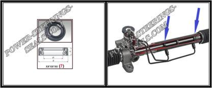 F-00320 Dichtring (Wellendichtring) Lenkgetriebe 30*38*3,5/5,5 (7V3G) BENTLEY ARNAGE