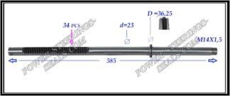 034.PS23 Rack (steering rack shaft) AUDI A2