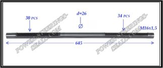 034.PS43 Electric steering rack shaft AUDI A3, SEAT TOLEDO III, SKODA OCTAVIA II, YETI, SUPER B, VOLKSWAGEN CADDY III, EOS, GOLF V,VI, PASSAT B6, TOURAN I