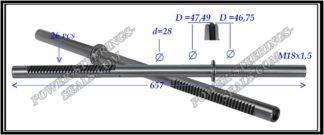 094.PS45 Rack (steering rack shaft) BMW 5 E60,E61