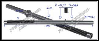 094.PS54 Rack (steering rack shaft) BMW 7 E65, E66