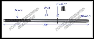 164.PS63 Rack (steering rack shaft) CITROEN JUMPER III, FIAT DUCATO IV, PEUGEOT BOXER