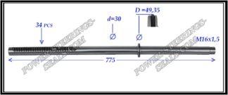 254.PS56 Rack (steering rack shaft) CITROEN JUMPER II, FIAT DUCATO III, PEUGEOT BOXER