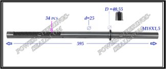 254.PS57 Rack (steering rack shaft) FIAT CROMA II, OPEL SIGNUM, OPEL VECTRA C, SAAB 9-3