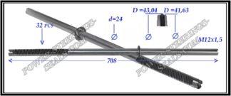 294.PS41 Rack (steering rack shaft) HONDA CR-V I