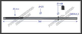 434.PS07 Rack (steering rack shaft) MAZDA 6 GG,GY