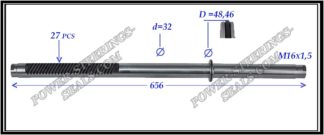 444.PS24 Rack (steering rack shaft) 2WD MERCEDES S-CLASS W220