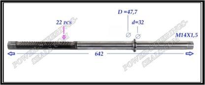 444.PS38R Rack (steering rack shaft), removed from the new original steering rack, not used. MERCEDES SL R230
