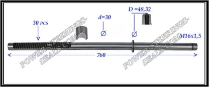 444.PS40 Rack (steering rack shaft) MERCEDES GL X164 , M-CLASS W164 , MERCEDES R-CLASS W251