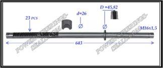 444.PS42 Rack (steering rack shaft) MERCEDES E-CLASS W211