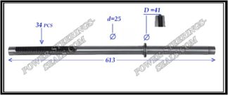 464.PS29 Rack (steering rack shaft) CITROEN C-CROSSER, MITSUBISHI LANCER X, OUTLANDER II, PEUGEOT 4007