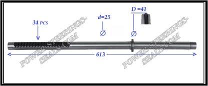 464.PS29 Rack (steering rack shaft) CITROEN C-CROSSER, MITSUBISHI LANCER X, OUTLANDER II, PEUGEOT 4007