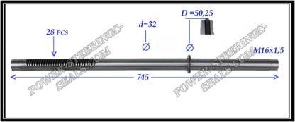 464.PS32 Rack (steering rack shaft) MITSUBISHI L 200, MITSUBISHI PAJERO SPORT II
