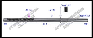 464.PS37 Rack (steering rack shaft) MITSUBISHI OUTLANDER I