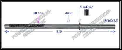 464.PS37 Rack (steering rack shaft) MITSUBISHI OUTLANDER I