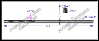 484.PS34 Rack (steering rack shaft) NISSAN X-TRAIL T30