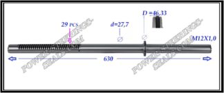 554.PS54 Rack (steering rack shaft) OPEL VIVARO A,RENAULT TRAFIC II