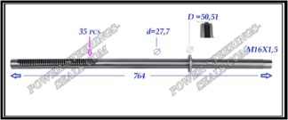 554.PS61 Rack (steering rack shaft) OPEL MOVANO B,RENAULT MASTER III