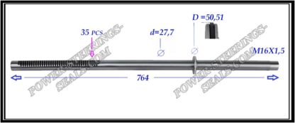 554.PS61 Rack (steering rack shaft) OPEL MOVANO B,RENAULT MASTER III