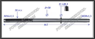 564.PS24 Rack (steering rack shaft) LAND ROVER DISCOVERY III, LAND ROVER DISCOVERY IV