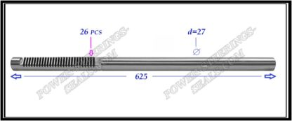 {:en}674.PS38 Electric steering rack shaft TOYOTA RAV 4 III