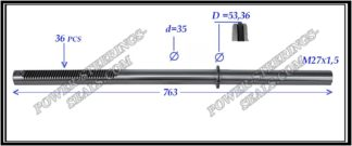 674.PS65 Rack (steering rack shaft) LEXUS LX470, TOYOTA LAND CRUISER 100 J10