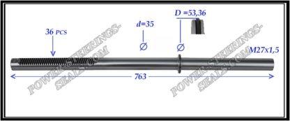674.PS65 Rack (steering rack shaft) LEXUS LX470, TOYOTA LAND CRUISER 100 J10