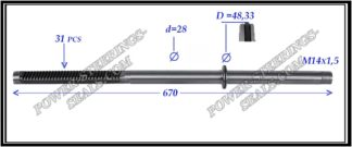 704.PS10 Rack (steering rack shaft) VOLKSWAGEN TRANSPORTER T4