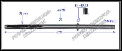 704.PS10 Rack (steering rack shaft) VOLKSWAGEN TRANSPORTER T4