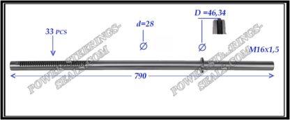 704.PS24 Rack (steering rack shaft) VOLKSWAGEN MULTIVAN, TRANSPORTER T5