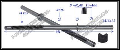 444.PS31 Rack (steering rack shaft) MERCEDES C-CLASS W203, MERCEDES CLK C209